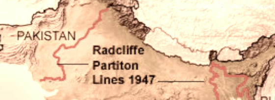Radcliffe Line to divide India-Pakistan