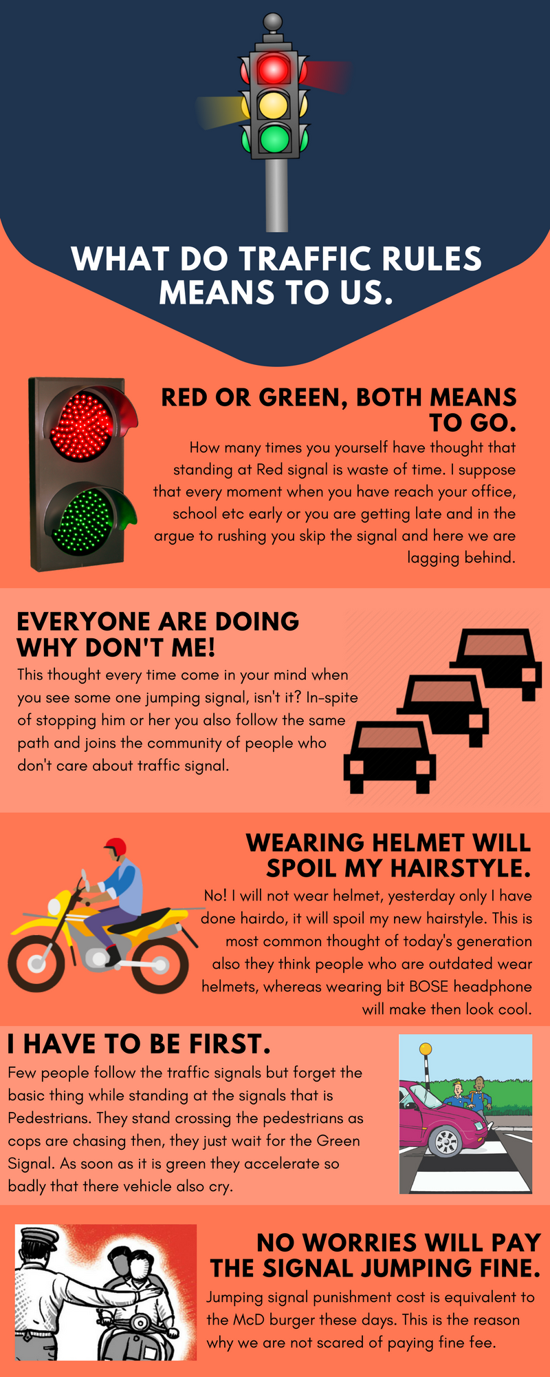 What do traffic signals means to us!