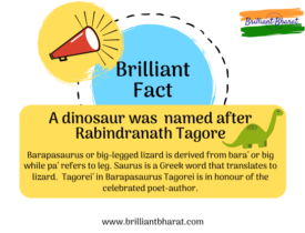 A Dinosaur was named after Rabindranath Tagore, Barapasaurus Tagorei, Brilliant Fact