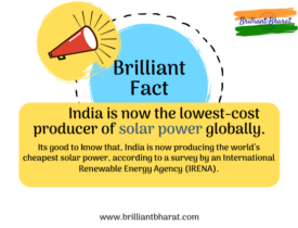 Its good to know that, India is now producing the world's cheapest solar power, according to a survey by an International Renewable Energy Agency (IRENA).