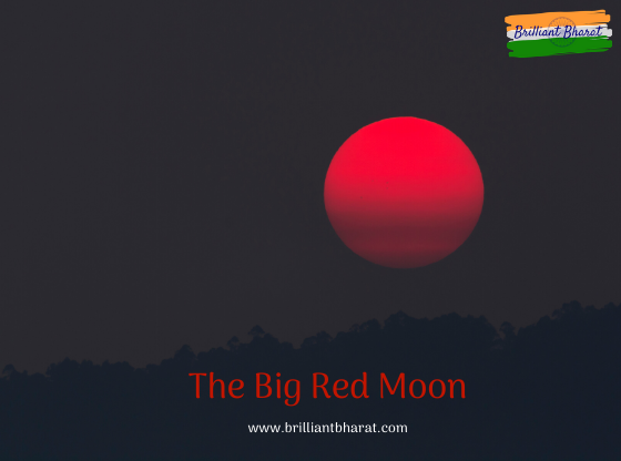 Glowing red, gleaming down at countless people (us), drifting alone in big space. Its all about the beautiful moon. Must Read