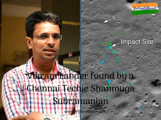 A 33-year-old techie from Chennai, Shanmuga Subramanian, has achieved a rare feat by finding the debris of Indian Space Research Organisation's Vikram Lander, which was dispatched in Chandrayaan-2. Nasa, along with announcing the discovery of the debris, gave credit to Shan and sent him an e-mail that his discovery had helped its Lunar Reconnaissance Orbiter Camera team locate the site of the primary impact, as well as other debris around the impact location.
