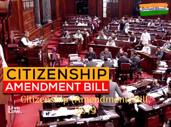 The Citizenship Amendment Bill, 2019 proposes to accord citizenship to illegal Hindu, Sikh, Buddhists, Jains, Parsis and Christian migrants from Pakistan, Bangladesh, and Afghanistan.