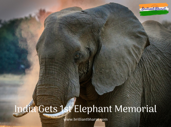 India Gets 1st Elephant Memorial