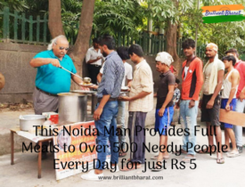 Meet The Noida Man Who Serves Quality Food To Over 500 People Everyday At Just Rs 5