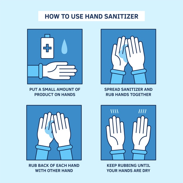 how to use hand sanitizer properly